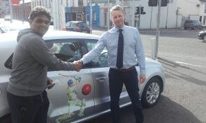 Niranjan sponsored car