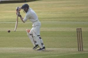 Opening batsman Teddy Tully in action at Downpatrick