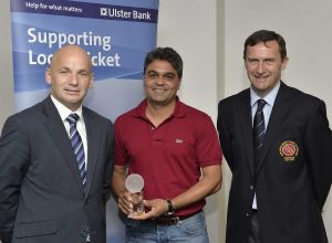 Niranjan with Sean Murphy (Ulster Bank) and Peter McMorran (NCU President)