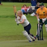 Lauren Breakey off drives through the covers